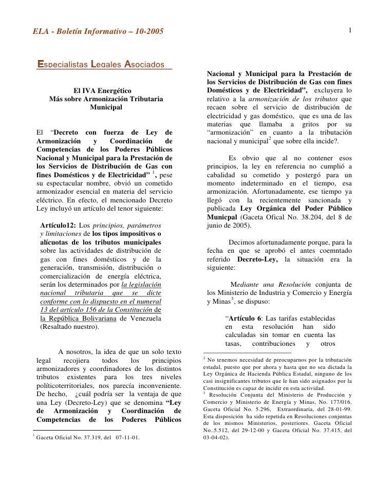 ELA - Boletín Informativo – 10-2005                                                                                 1     ...