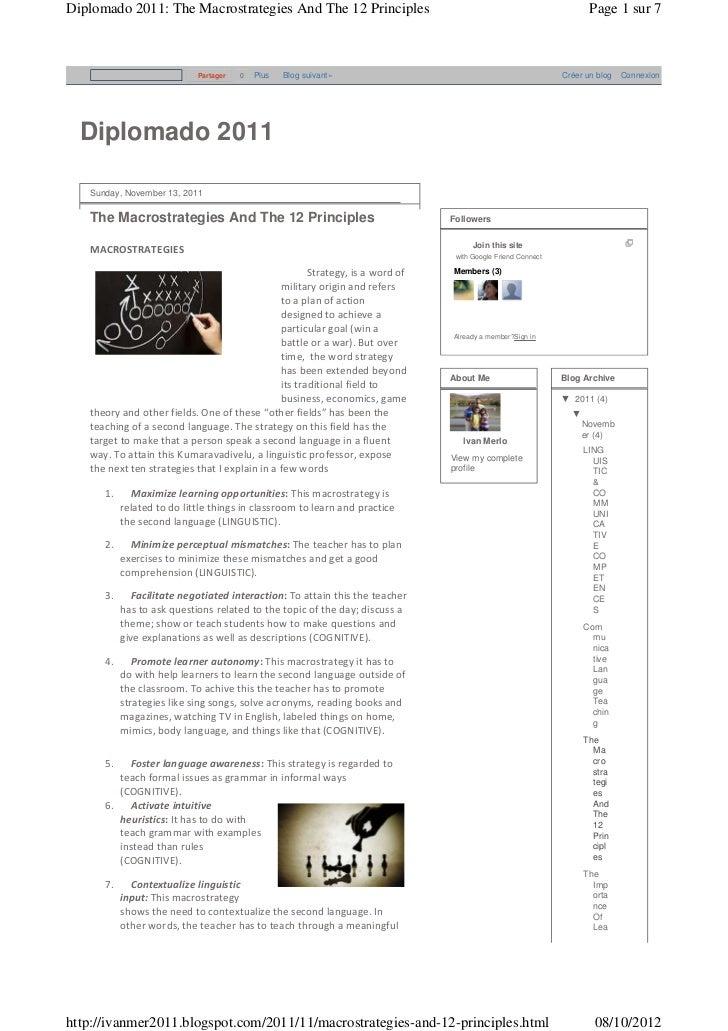 Diplomado 2011: The Macrostrategies And The 12 Principles                                                               Pa...