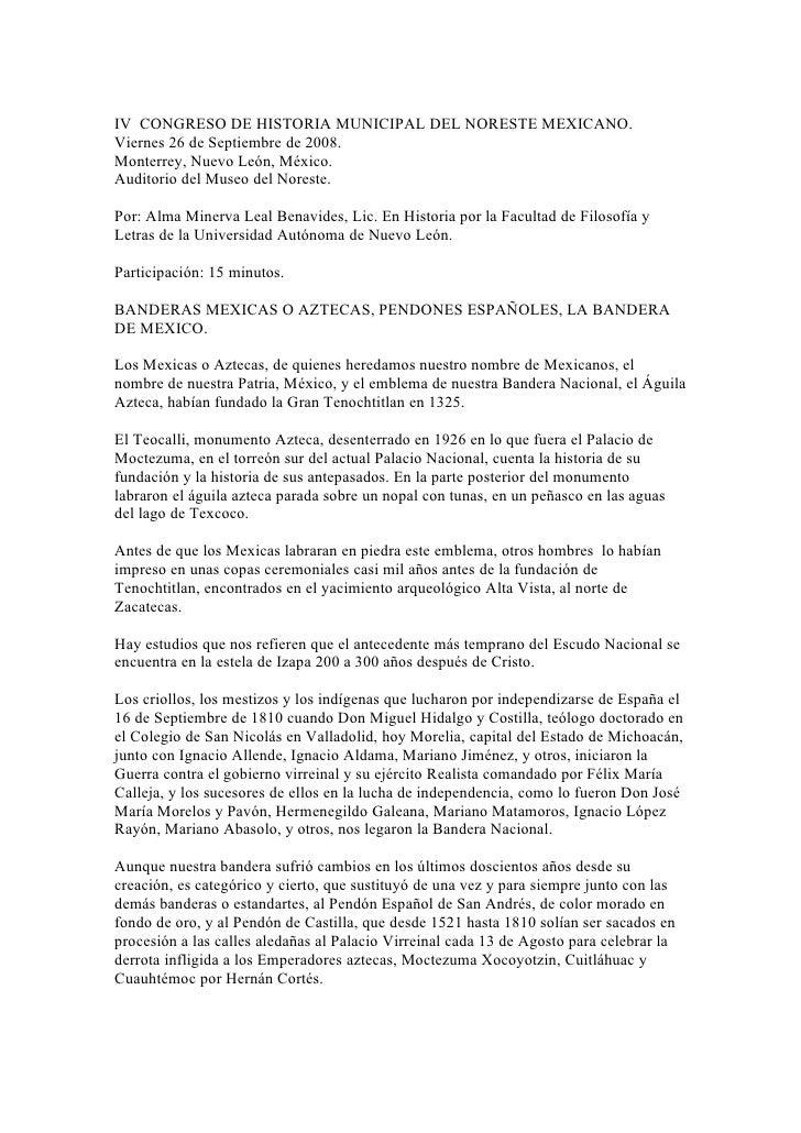 Iv  Congreso De Historia Municipal Del Noreste Mexicano