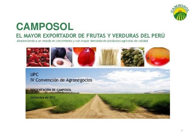 IV CONVENCION DE AGRONEGOCIOS UPC - camposol