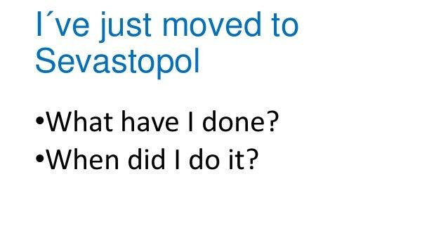 I´ve just moved to sevastopol