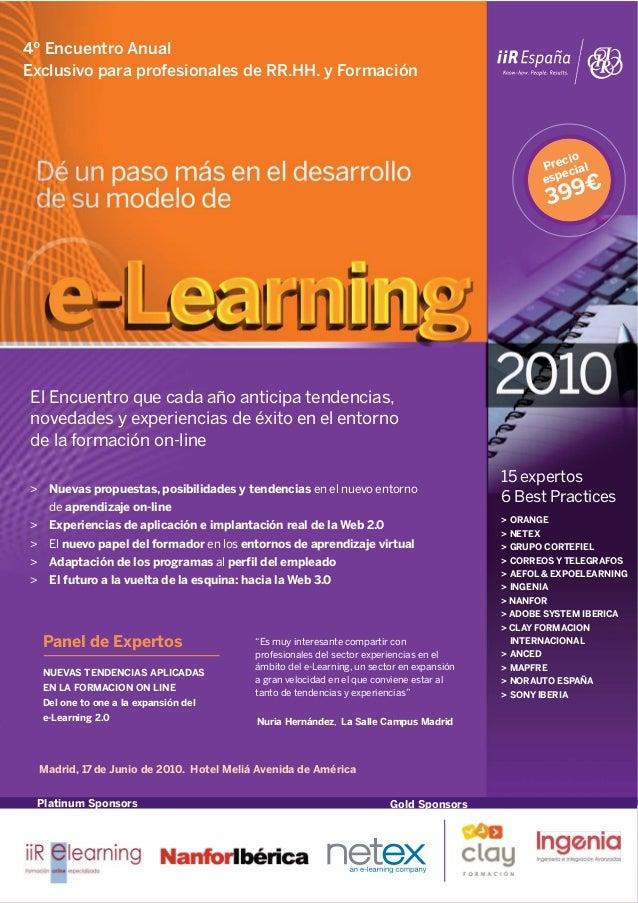 4º Encuentro AnualExclusivo para profesionales de RR.HH. y Formación                                                      ...