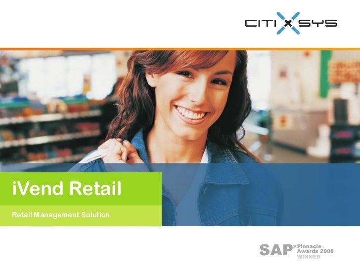 iVend Retail Retail Management Solution