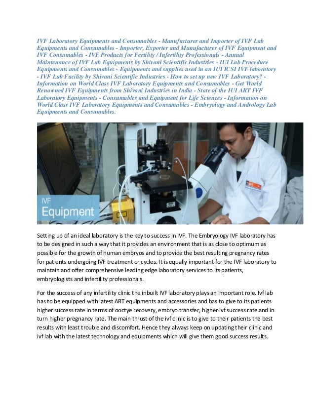 IVF Laboratory Equipments and Consumables - Manufacturer and Importer of IVF Lab Equipments and Consumables - Importer, Ex...