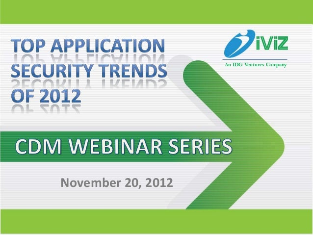Top Application Security Trends of 2012