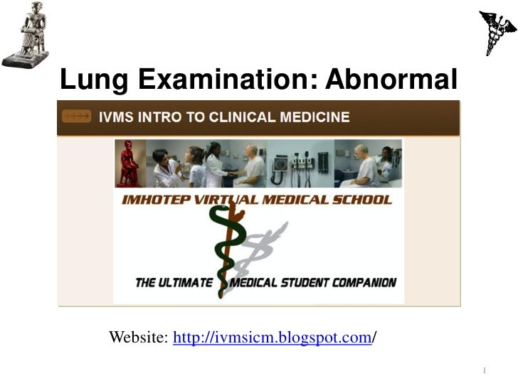 IVMS -ICM  Lung Examination- Abnormal