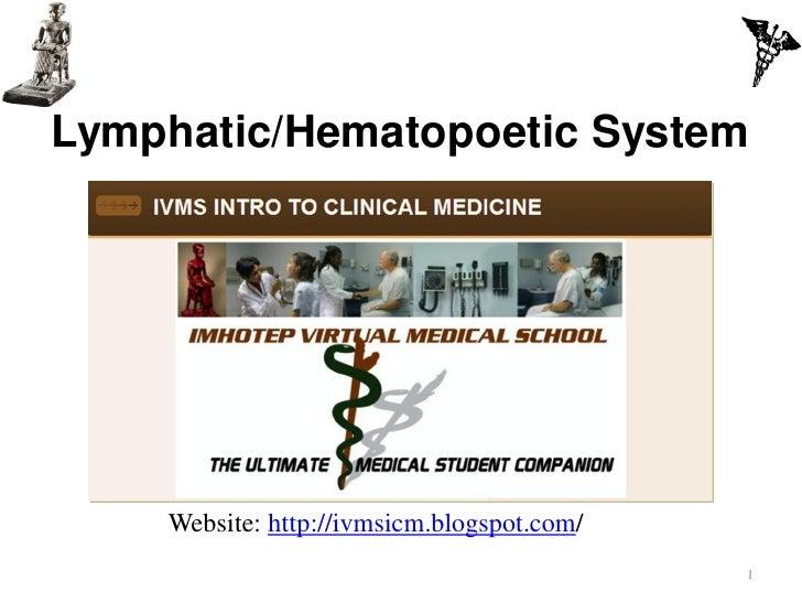 IVMS -ICM Lymphatic-Hematopoetic System