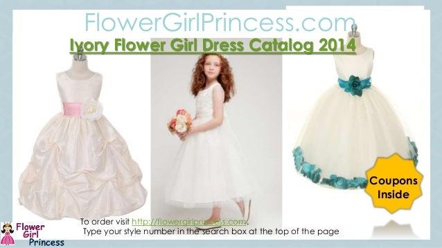 Ivory Flower Girl Dress Catalog from flowergirlprincess.com