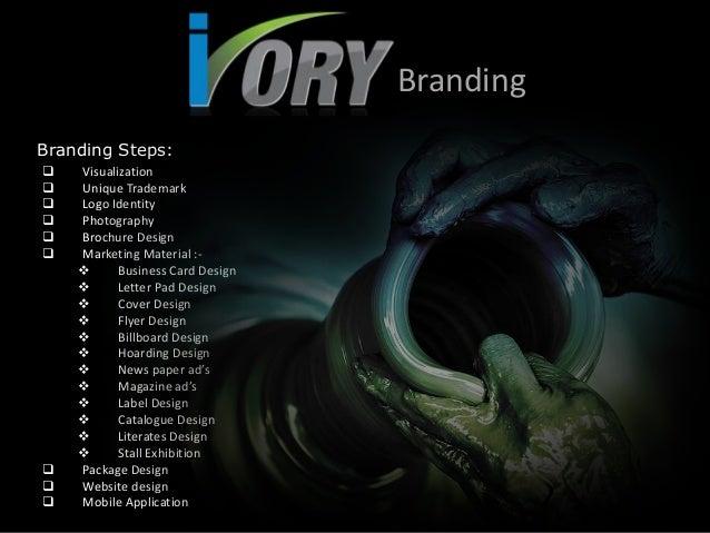 Branding Branding Steps:            Visualization Unique Trademark Logo Identity Photography Brochure Design Mark...