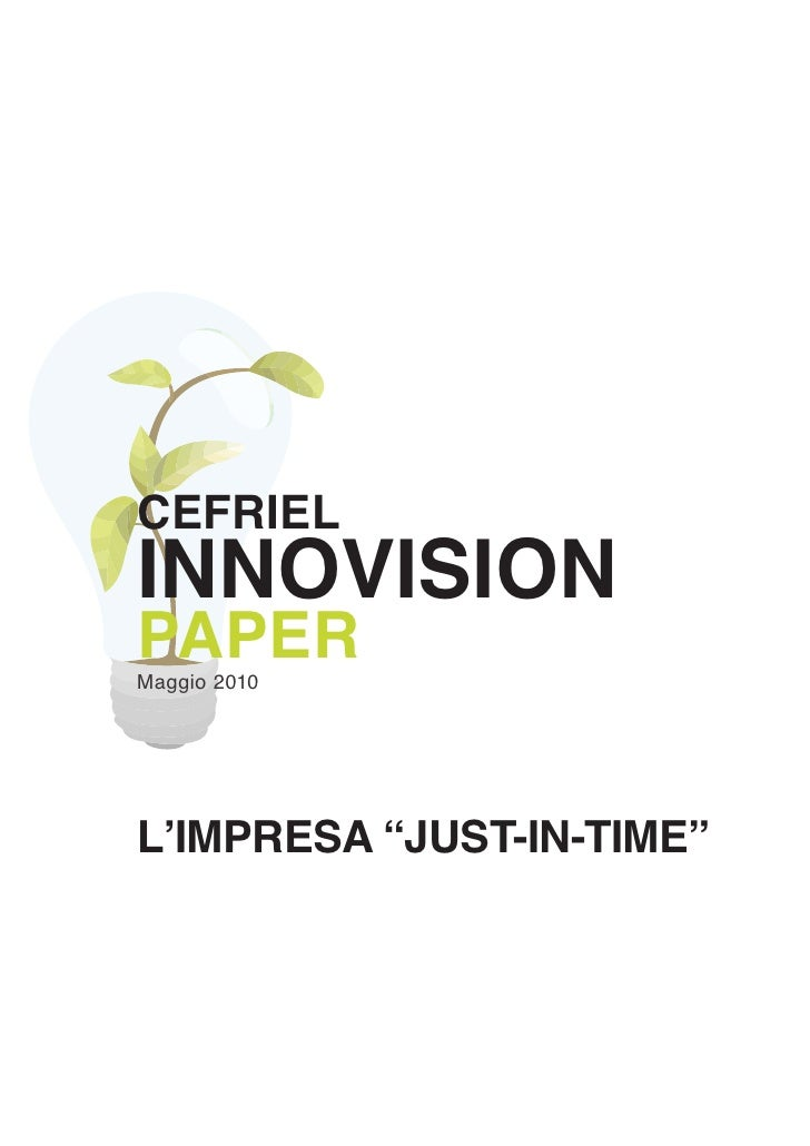 "L'impresa ""Just-In-Time"""