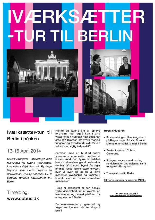 Iværksætter tur Berlin april 2014
