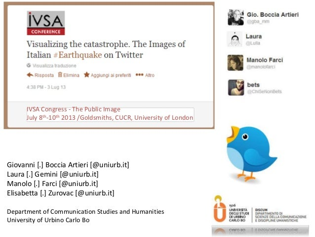 Visualizing the catastrophe. The Images of Italian #Earthquake on Twitter
