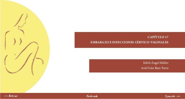 capítulo 17 EMBARAZO E INFECCIONES CÉRVICO-VAGINALES Edith Ángel Müller Ariel Iván Ruiz Parra Contenido Siguiente ›››‹‹‹ A...