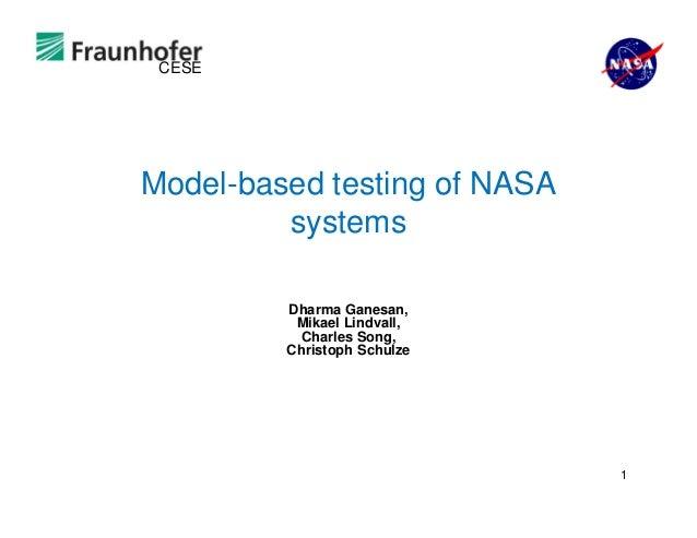 Ivv workshop model-based-testing-of-nasa-systems