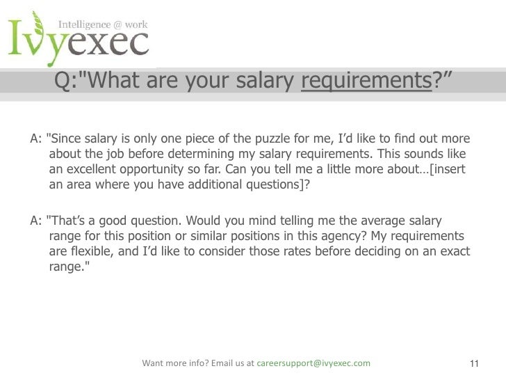 how to write salary expectations