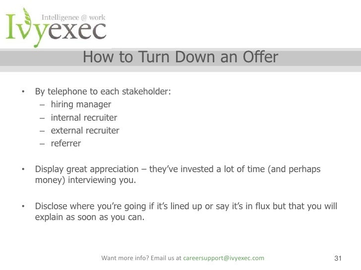 Ivy Exec Webinar: Salary Negotiation Webinar With Sarah Stamboulie ... 31.