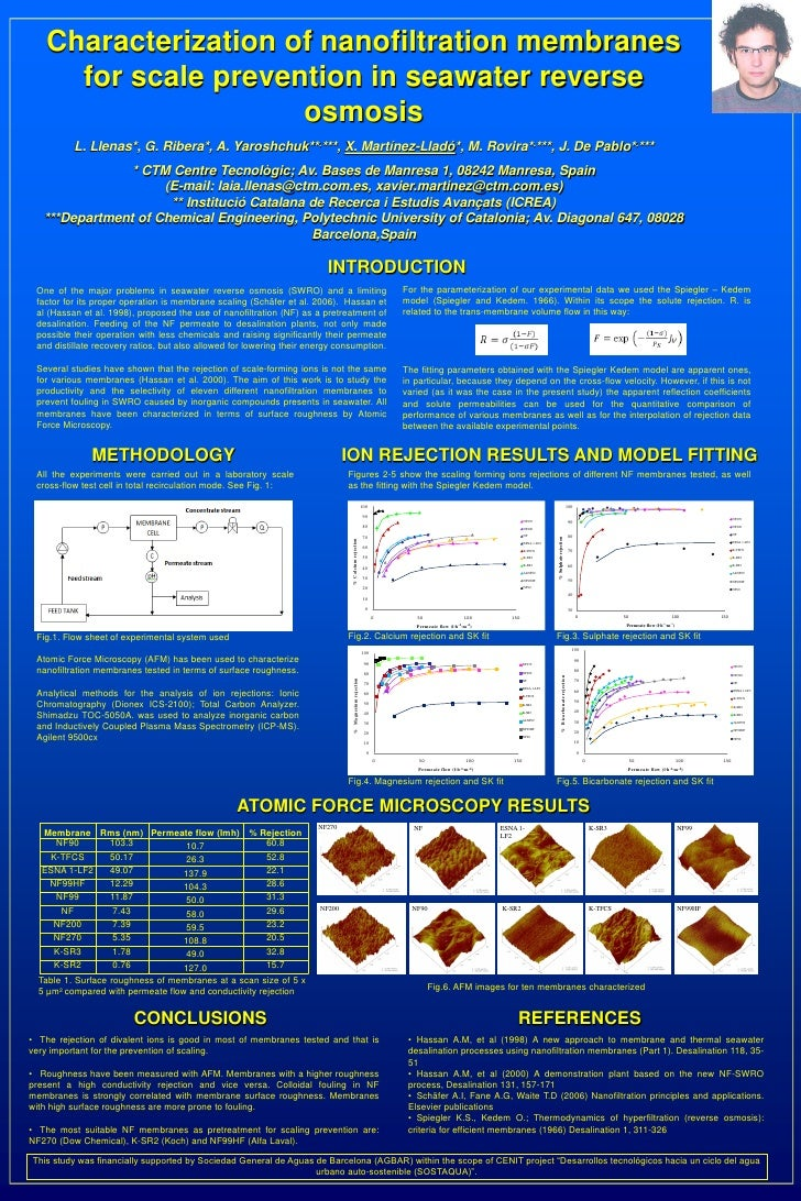 Characterization of nanofiltration membranes     for scale prevention in seawater reverse                     osmosis     ...