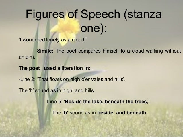 figure of speech in i wandered lonely as a cloud