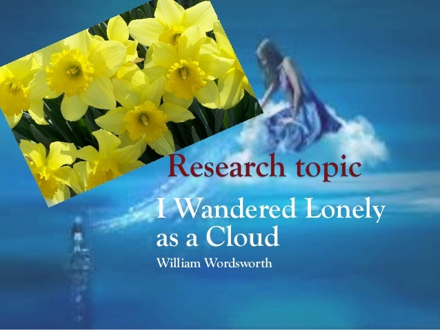 i wandered lonely as cloud essay