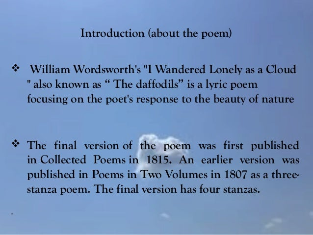 william wordsworth lucy poems Description and explanation of the major themes of wordsworth's poetry wordsworth's poetry william wordsworth lucy who died at a young age these poems.