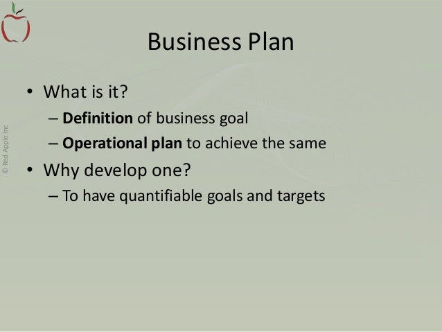 I want business plan