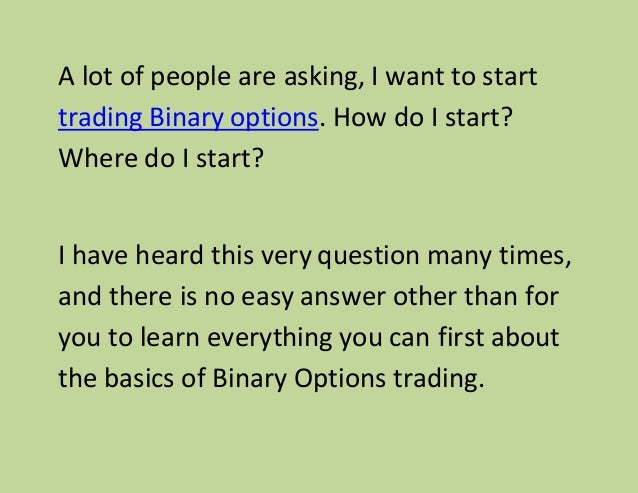 How do i start trading options