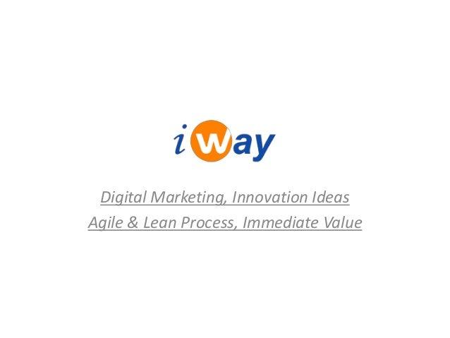 Digital Marketing, Innovation IdeasAgile & Lean Process, Immediate Value
