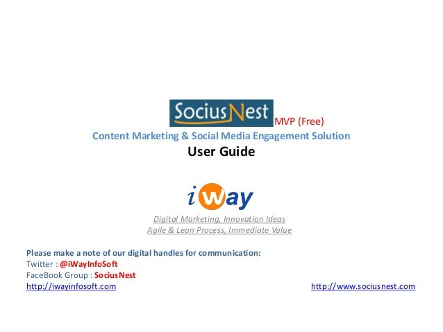 SociusNest MVP (Free) User Guide - Content Marketing & Social Media Engagement Solution