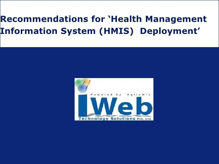 iWeb's eGovernance HMIS System