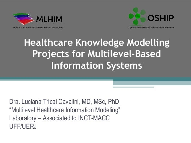 Healthcare Knowledge Modelling      Projects for Multilevel-Based           Information SystemsDra. Luciana Tricai Cavalin...