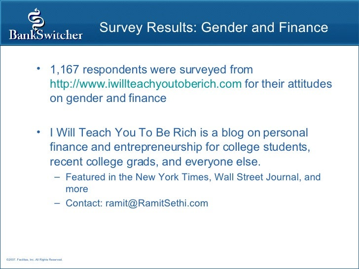New -- IWillTeachYouToBeRich survey on gender and money -- with gender differences highlighted