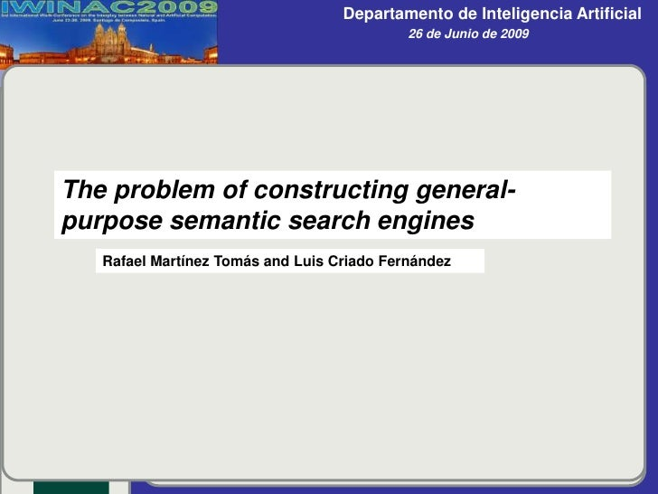 The problem of constructing general-purpose semantic search engines