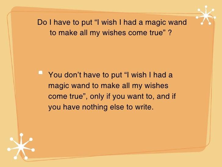wish essay