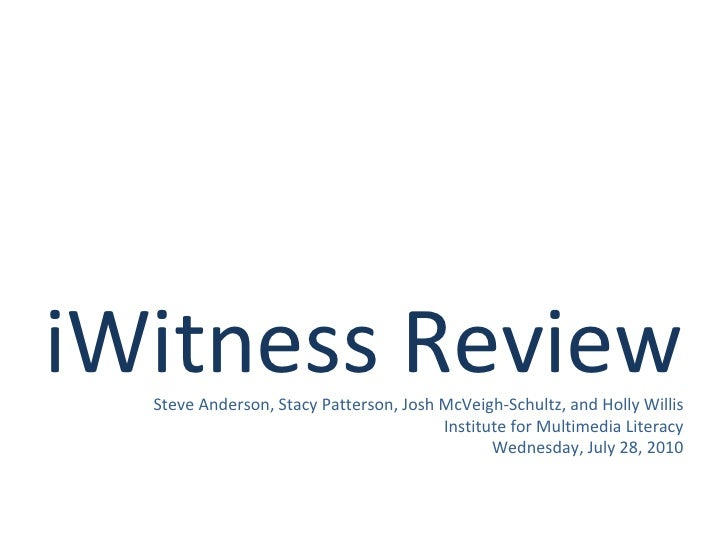I witness review