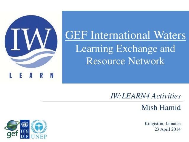 IWLEARN4 Activities