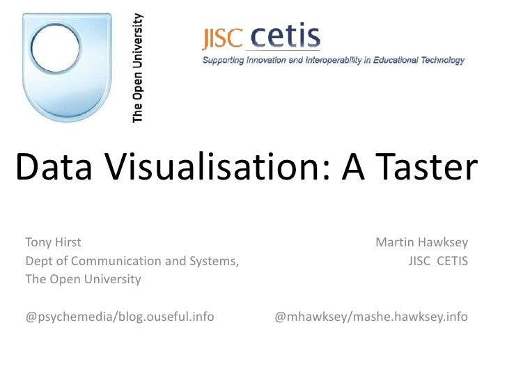 Iwmw12 data viz taster
