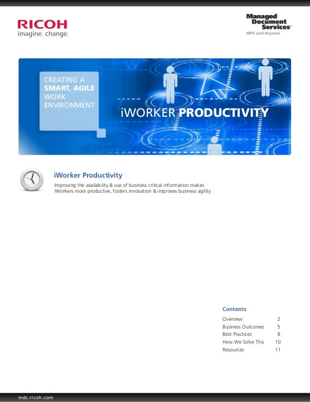 CREATING A         SMART, AGILE         WORK         ENVIRONMENT                                              iWORKER PROD...