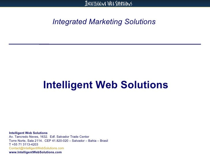 Intelligent Web Solutions - Services (English)