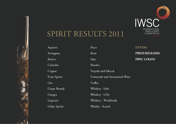 IWSC 2011 Spirits results