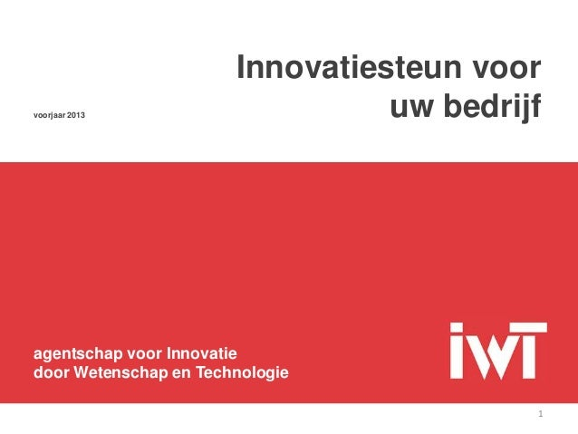 Innovatiesteun voor uw bedrijf