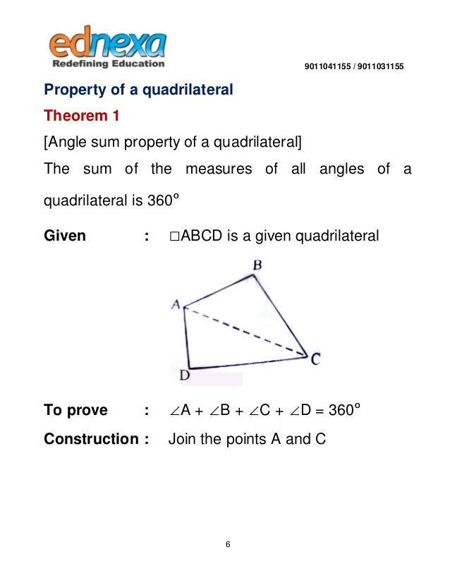 1 Angle Sum Property of a