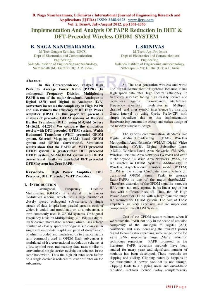 B. Naga Nancharamma, L.Srinivas / International Journal of Engineering Research and                   Applications (IJERA)...