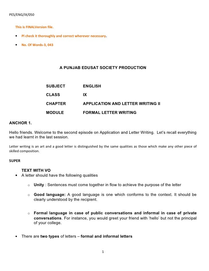 5 parts of an application letter