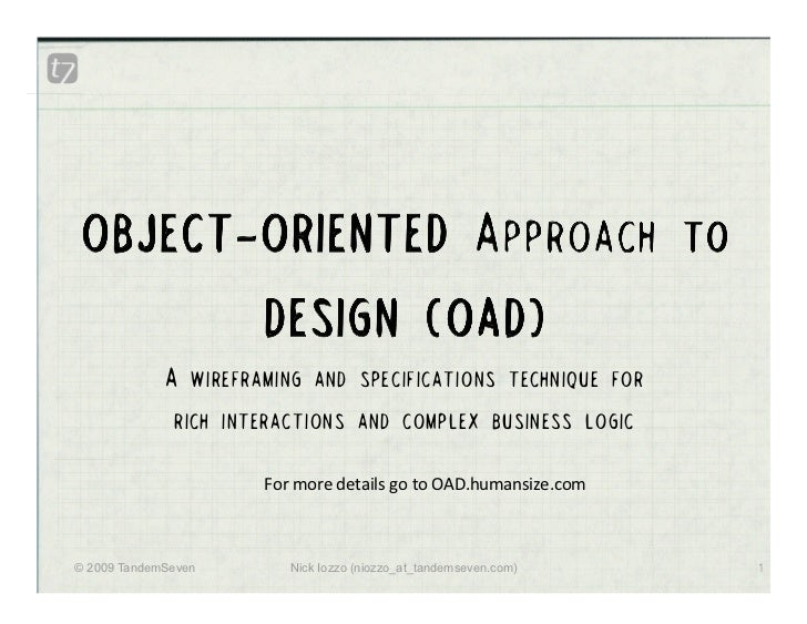 Interactions 09 Object Oriented Approach To Design--OAD
