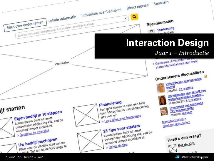 Interaction Design<br />Jaar 1 – Introductie<br />