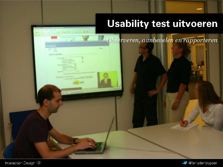 CMD Interaction Design - Y1 Q1 les 4 - Conducting a Usability Test