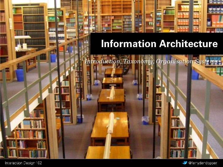 CMD Interaction Design - Y1 Q2 les 1 - Information Architecture
