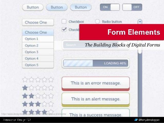 Interaction Design 3.2: Form Elements