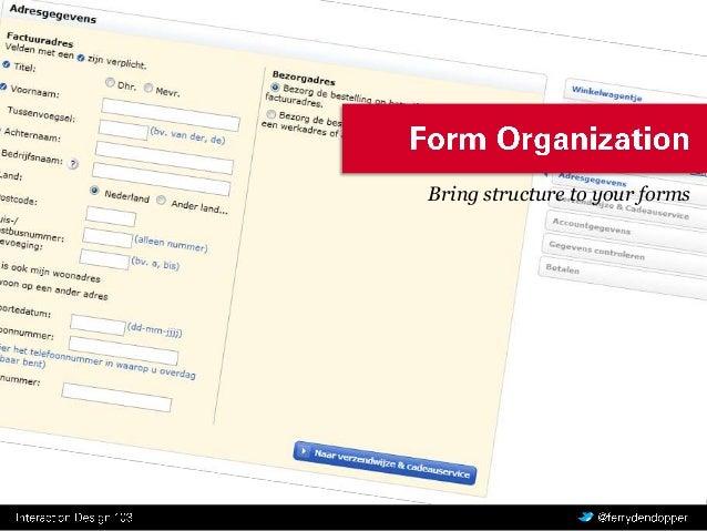 Interaction Design 3.3: Form Organization