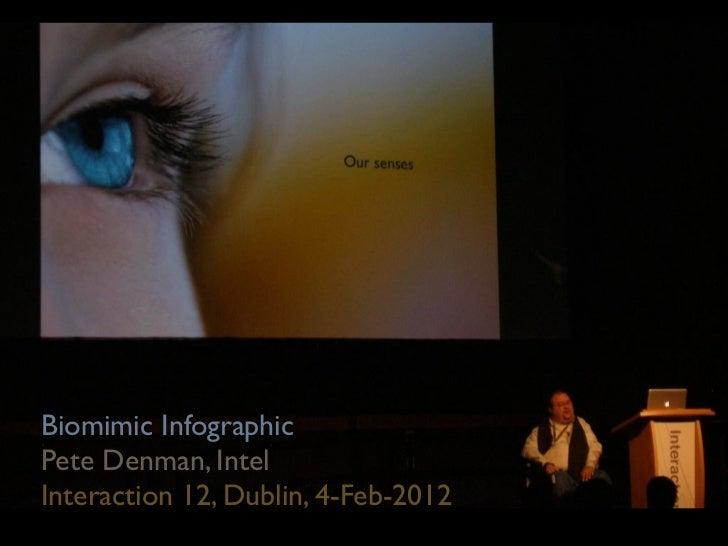 Biomimic InfographicPete Denman, IntelInteraction 12, Dublin, 4-Feb-2012